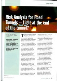 of the tunnel? - ILF Consulting Engineers