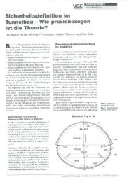 Sicherheitsdefiniton im Tunnelbau - Wie praxisbezogen ist die Theorie