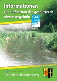 Broschüre zur gesplitteten Abwassergebühr - Illerkirchberg