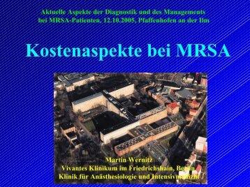 Kosten bei MRSA - Ilmtalklinik Pfaffenhofen
