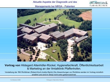 MRSA-Hygienemanagement - Ilmtalklinik Pfaffenhofen