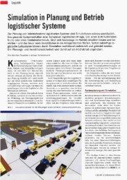 Simulation in Planung und Betrieb