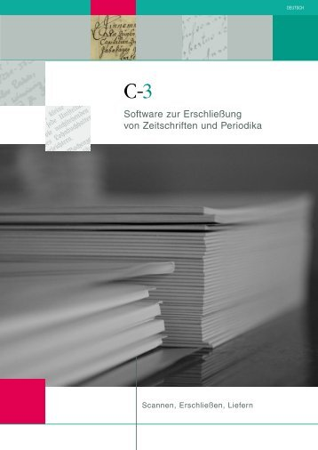 Software zur Erschließung von Zeitschriften und ... - Imageware.de
