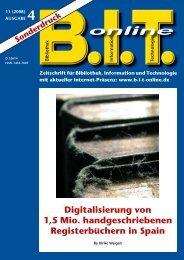 Digitalisierung von 1,5 Mio. handgeschriebenen ... - Imageware.de