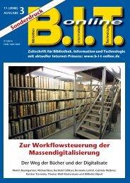 Zur Workflowsteuerung der Massendigitalisierung - Imageware.de