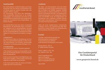 Download Flyer GeoPortal.Bund (pdf-Datei, 267 KB - IMAGI