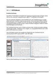 OCR-Modul - ImageWare