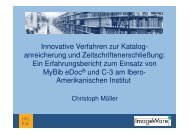 Innovative Verfahren zur Katalog-  anreicherung und ... - ImageWare