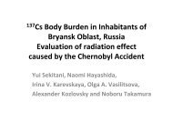 137Cs Body Burden in Inhabitants of Bryansk Oblast, Russia ... - IMBEI