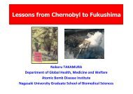 Lessons from Chernobyl to Fukushima - IMBEI