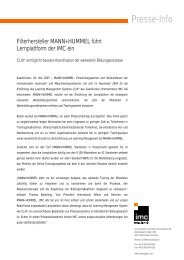 Presse-Info - IMC Information Multimedia Communication AG