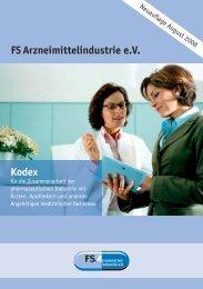 Kodex FSArzneimittelindustrie e.V. - IMIG Institut für Marktforschung ...