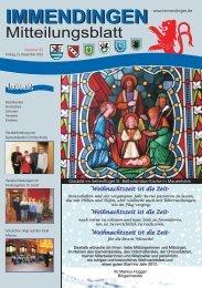 Mitteilungsblatt KW 51/52 - 21.12.2012-10.01.2013 - Immendingen