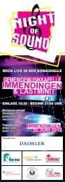 Flyer Night of Sound - Immendingen