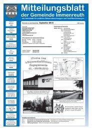 Mitteilungsblatt der Gemeinde Immenreuth