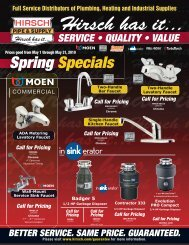 Call for Pricing - Hirsch Pipe & Supply, Inc.