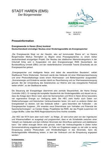 08-30-2012 RWE Projekt - Stadt Haren
