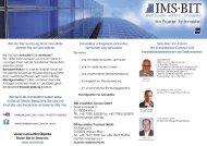 Infoflyer der Firmen IMS Immobilien Service GmbH