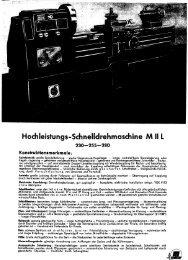 Hochleistungs-Schnelldrehmaschine M II  L