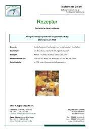 Rezeptur - implements.de