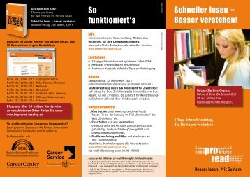 Schneller lesen - Improved Reading
