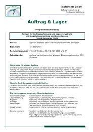 Auftrag & Lager - implements.de