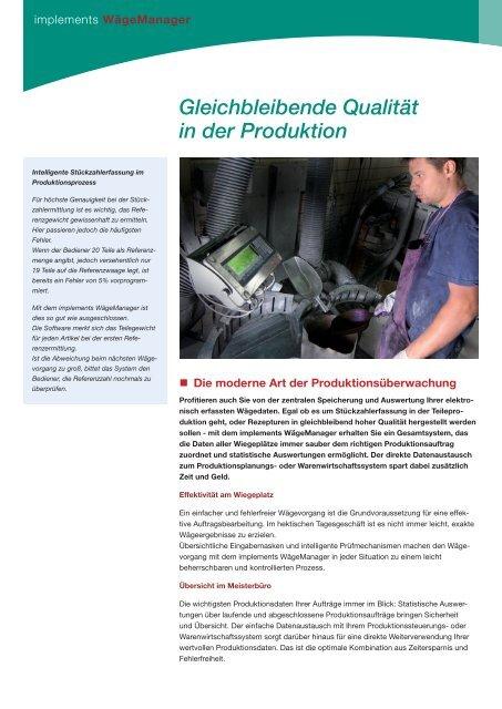 als eine elektronische Waage - implements.de