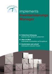 Inventarisierungs- Manager im PDF-Flyer - implements.de