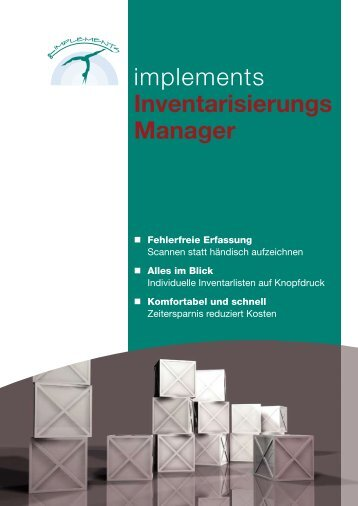 Inventarisierungs- Manager im PDF-Flyer - implements.de