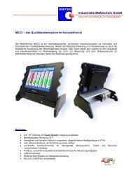 Weitere Infos - IMTEC Industrielle Messtechnik GmbH