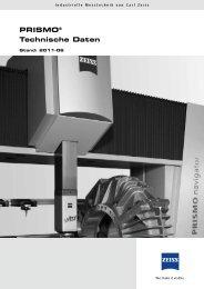 PRISMO® Technische Daten - IMTEC Industrielle Messtechnik GmbH