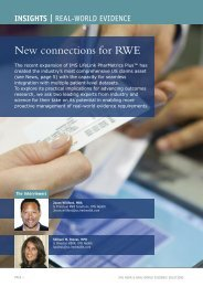 New connections for RWE - IMS Health