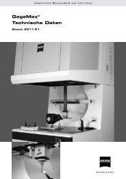 GageMax® Technische Daten - IMTEC Industrielle Messtechnik GmbH