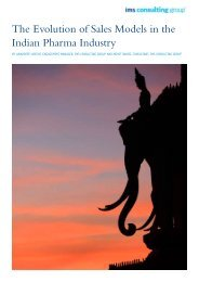 The Evolution of Sales Models in the Indian Pharma ... - IMS Health