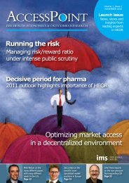 HEOR AccessPoint Report - IMS Health