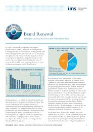 Brand Renewal: Maximizing Lifecycle in an Ever More - IMS Health