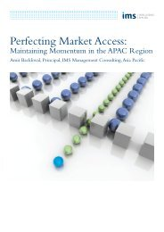 Perfecting Market Access in Asia-Pacific - IMS Health