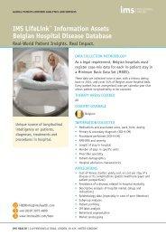 Belgium hospital disease database - IMS Health