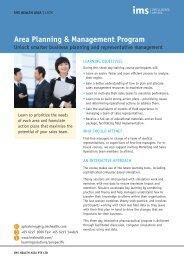 Area Planning & Management Program - IMS Health