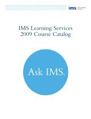 Course Information - IMS Health