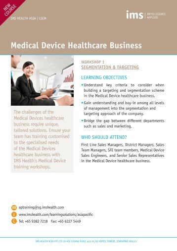 Medical Device Healthcare Business - IMS Health
