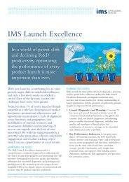 Launch Excellence A4 4pp - IMS Consulting