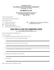 IMS Health Definitive Proxy