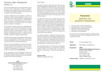 Qualitative und quantitative Risikoanalyse ... - Inburex GmbH