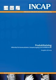 Produktkatalog - Incap GmbH