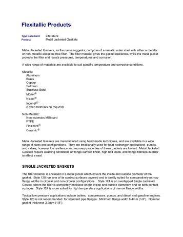 Flexitallic Products -  Induseal Gaskets GmbH