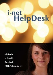 i-net HelpDesk - i-net Software