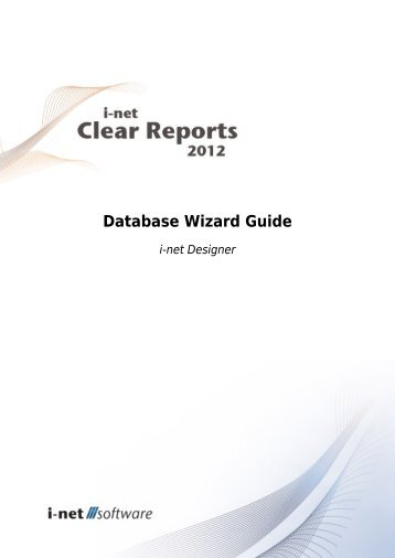 Database Wizard Guide - i-net Software