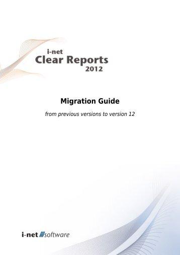 Migration to version 12 - I-net Software