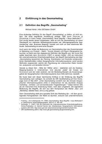2 Einführung in  das Geomarketing - infas GEOdaten